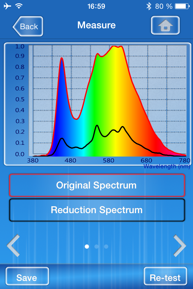 Spectrum Genius Transmittance App