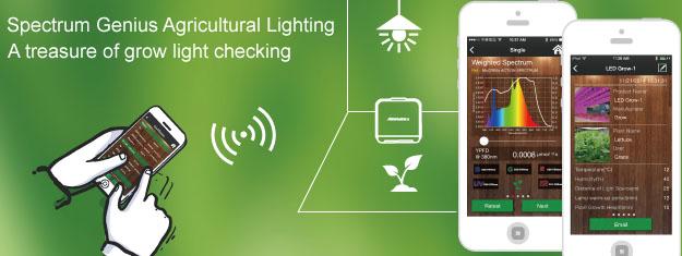 SGAL Spectrum Genius Agricultural Lighting App für Messung Pflanzenlicht